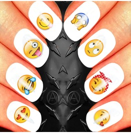 Nail Art Decals Design Set N7 Emoji Assortment