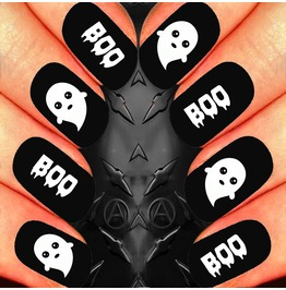 Nail Art Decals Design Set N9 Kawaii Boo Ghost