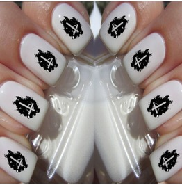 Nail Art Decals Design Set N11 Gothic Cross
