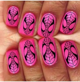 Nail Art Decals Design Set N13 Spiderman