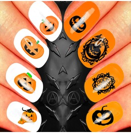 Nail Art Decals Design Set N14 Halloween Assortment