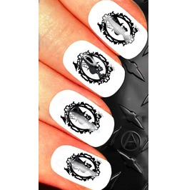 Nail Art Decals Design Set N56 Skull Cameo