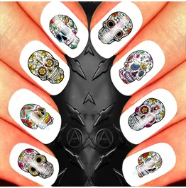 Nail Art Decals Design Set N60 Sugar Skull Assortment 2