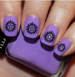 Nail Art Decals Design Set N63 Supernatural