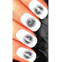 Nail Art Decals Design Set N64 All Seeing Eye