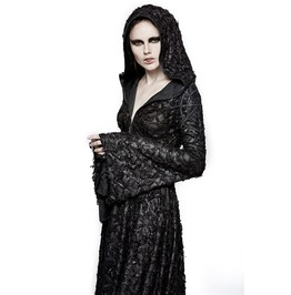 Punk Rave Gothic Threadbare Knitted Outcast Hooded Dress Q308