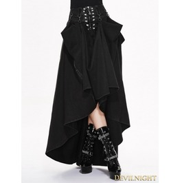 Black High Waist Gothic Skirt Skt017