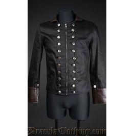 & Black Military Jacket