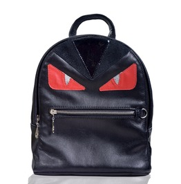 Red Demyse Monster Genuine Leather Backpack