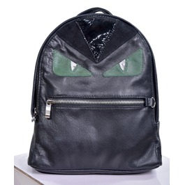 Green Demyse Monster Genuine Leather Backpack