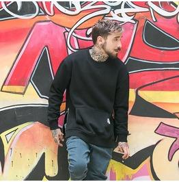 Hip Hop Pure Color Men's Casual Sweatshirts