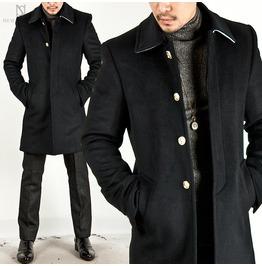 Gentle Collar Closure Layer Wool Slim Coat 61