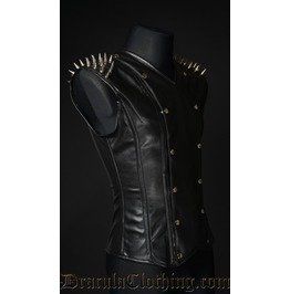 Spiked Leather V Shaper