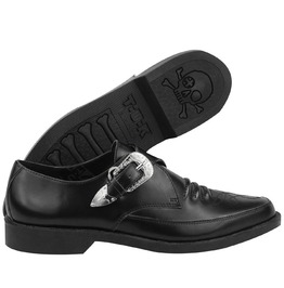 Tuk Black Leather Pointed Toe Buckled Western Dress Shoes $5 Us Shipping