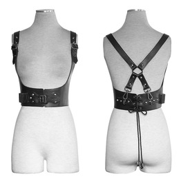 Punk Rave Military Sniper Faux Leather Straps Belts Harness S205
