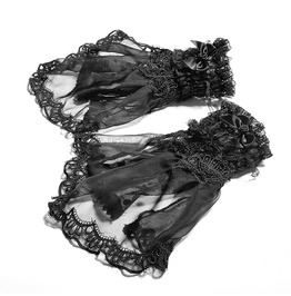 Punk Rave Lolita Flower Bowknot Lace Gloves Ls044