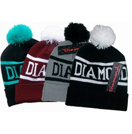 Unisex Winter Diamond Supply Co Beanie Pom Pom Beanies
