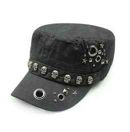 Womens Cap With Skull Studs