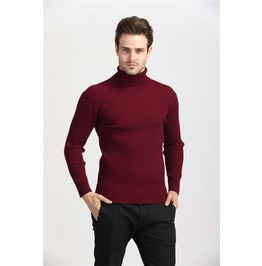 Mens Slim Fit High Neck 5 Color Warm Sweater