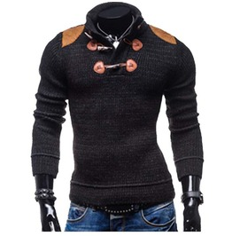 Mens Knitted Long Sleeve Warm Wool Sweater