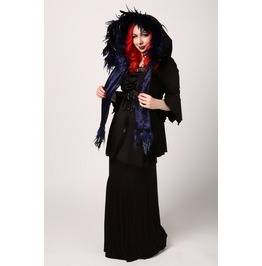 Handmade Feathered Starry Starry Night Black Witch Elf Or Fairy Hood