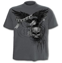Spiral Mens Die Free T Shirt Charcoal Ds114622