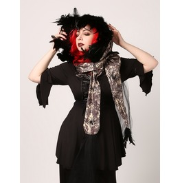 Handmade Feathered Spider Queen Gothic Witch Elf Or Fairy Hood