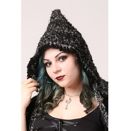Handmade Smoky Gray Witch Elf Or Fairy Hood