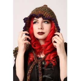 Handmade Forest Witch, Elf Or Woodland Fairy Hood