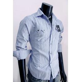 New Corduroy Western Long Sleeve Slim Fit Snap Shirt Size M