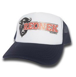 Toxico Clothing Rednek Bison Trucker Hat (Navy/White)
