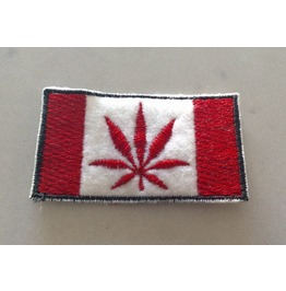 Embroidered Oh Cannabis Flag Iron/Sew On Patch