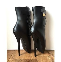 18cm Fetish Lockable Ballet Boots Padlock Custom Color Handmade Restrain
