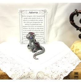 Adoptable Baby Dragon Polymer Clay Dragon Adoeria The Silver Dragon