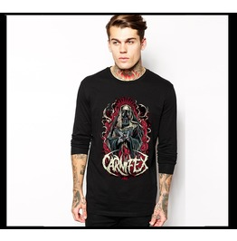 Ss 0200 Black Gothic Missionary Pattern Long Sleeves T Shirt For Men
