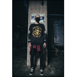 Ss 0202 Black Gothic Punk Gilt Pattern Sweatshirt For Men