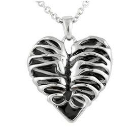 Controse Heart Rib Cage Necklace