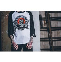 Ss 0219 White Gothic Punk Skeleton Pilot Pattern T Shirt For Men