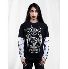 Ss 0221 Black Gothic Cartoon Reaper Pattern T Shirt For Men