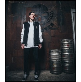 Ss 0223 Black Gothic Punk Ghost Face Pattern Raglan Baseball Coat For Men