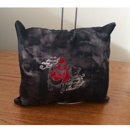 Embroidered Dark Fairy Tales Red Riding Hood Mini Pillow
