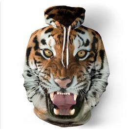 Tiger Mens Hood Hoodie Sweatshirts Hooded Men Funny Size S M L Xl