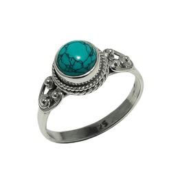 Gaia Turquoise 925 Sterling Silver Ring