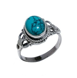 Luna Turquoise 925 Sterling Silver Ring