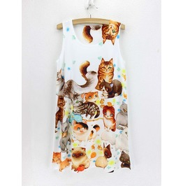 Cats Dress / Vestido Gatos Wh298