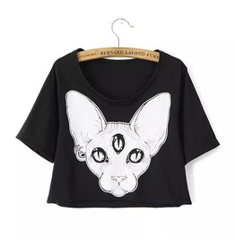 Sphynx Cat T Shirt / Camiseta Gato Esfinge Wh303
