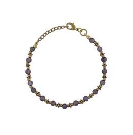 Labradorite Bohemian Brass Bracelet