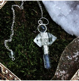 White Witch Quartz Pendulum Or Necklace!