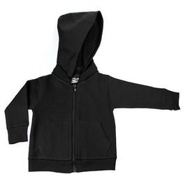 Black Signature Zip Up Baby & Toddler Hoodie W/ Detachable Hood