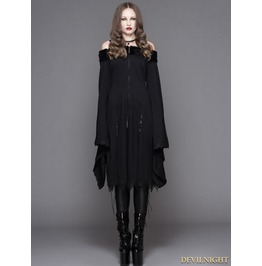 Ct033 Romantic Black Gothic Off The Shoulder Dress For Women